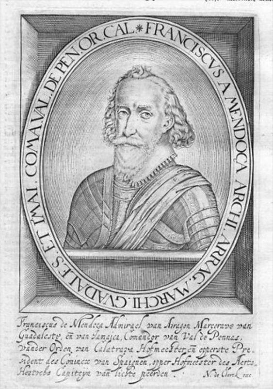 Francisco de Mendoza Aragon Espana Portrait Kupferstich engraving