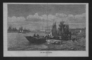 Hafen Venedig Italien port Venice Italy Venezia Holzstich wood engraving