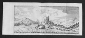 Struden Burg Werfenstein Donau Kupferstich Merian