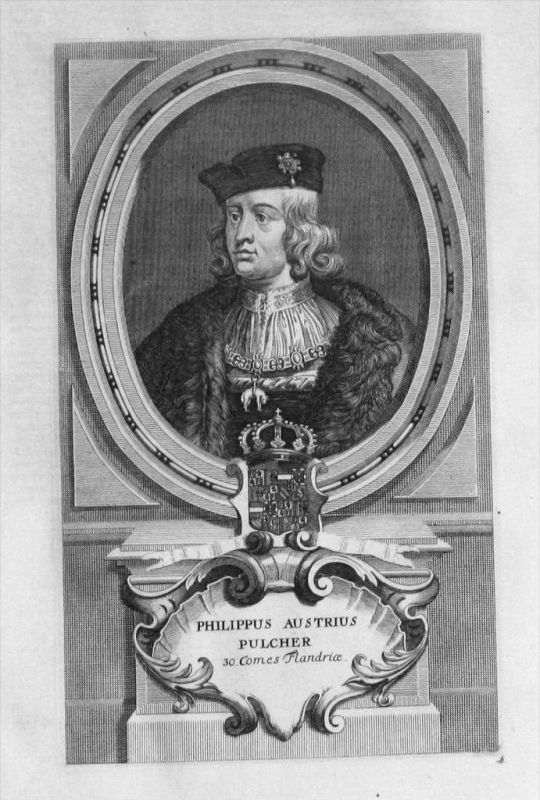 Philipp I. von Habsburg Burgund Portrait gravure engraving Kupferstich