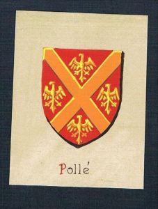 0. Jh. - Pollé Blason Aquarelle Wappen Heraldik coat of arms