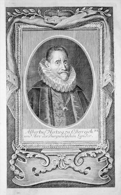 Albrecht VII von Habsburg Österreich Kupferstich Portrait engraving
