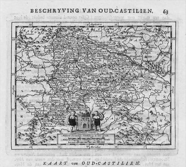 - Castilia Espana grabado map Espana
