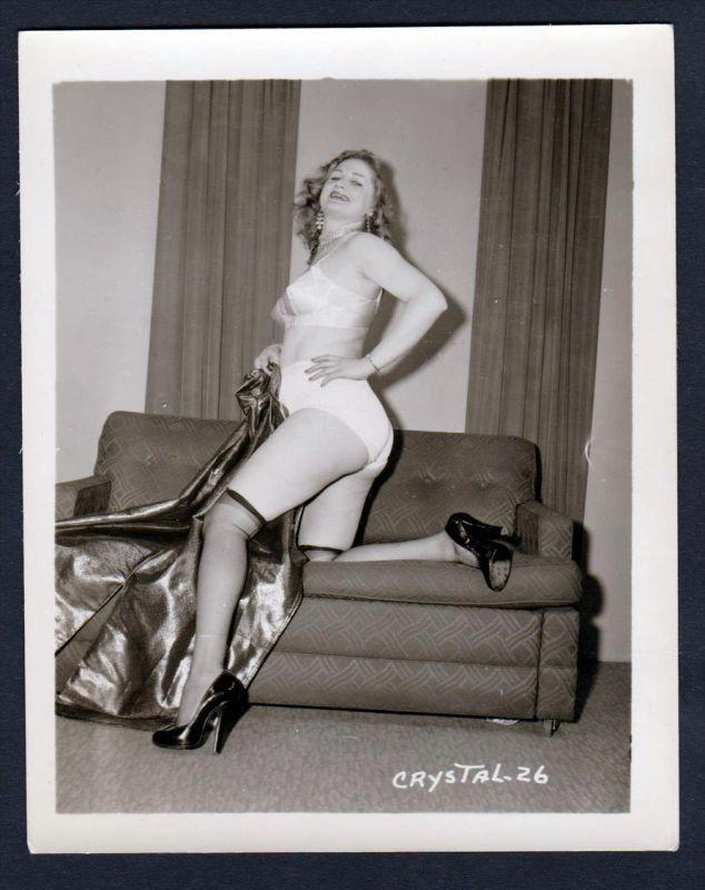 Unterwäsche lingerie Crystal Erotik nude vintage Dessous pin up Foto photo