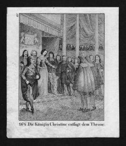 Christina von Schweden Queen Sweden Lithographie Lithograph