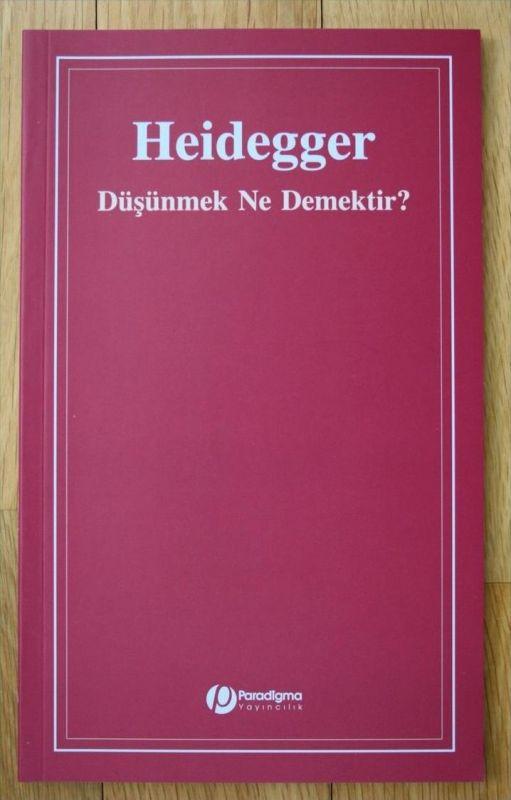 Martin Heidegger Düsünmek Ne Demektir Was heisst denken türkisch turkish
