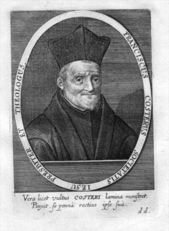 Francis Coster Jesuit Kupferstich Portrait