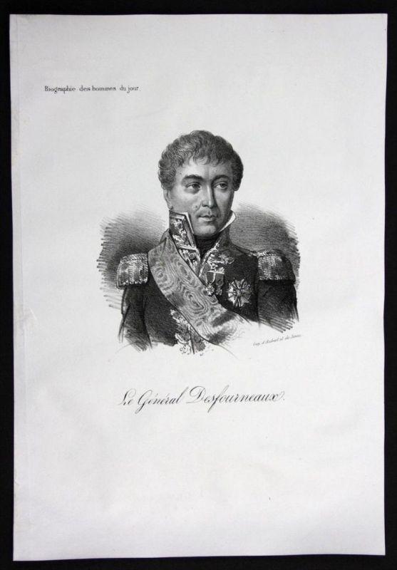 Edme Etienne Borne Desfourneaux General Frankreich Lithographie Portrait