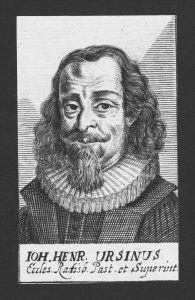 Johann Heinrich Ursin Theologe Speyer Regensburg Kupferstich Portrait