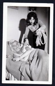 Schlafen Unterwäsche lingerie Erotik vintage Dessous pin up Foto photo