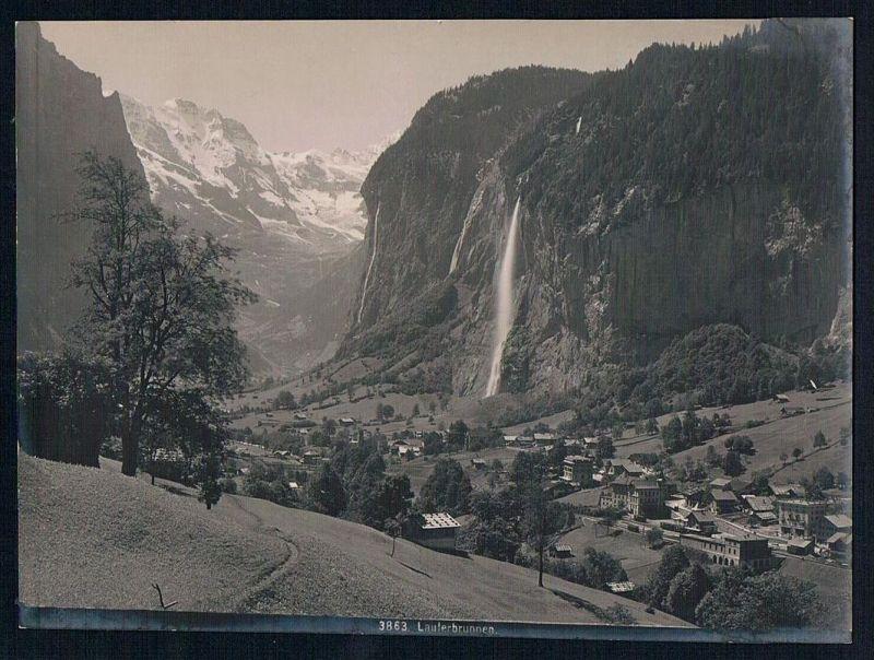 Lauterbrunnen Interlaken-Oberhasli Original Foto photo vintage
