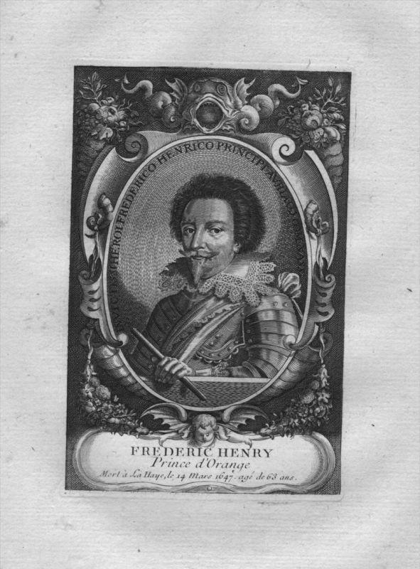 Friedrich Heinrich von Oranien Stadthalter Holland Kuperstich Portrait