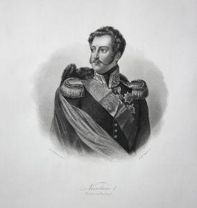 Nicolaus I. - Kaiser von Russland - Nikolaus I. Kaiser emperor Russland Russia Portrait Stahlstich steel engra