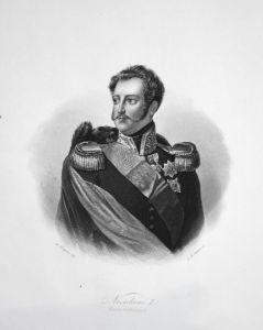 Nicolaus I. - Kaiser von Russland - Nikolaus I. Kaiser emperor Russia Russland Portrait Stahlstich steel engra