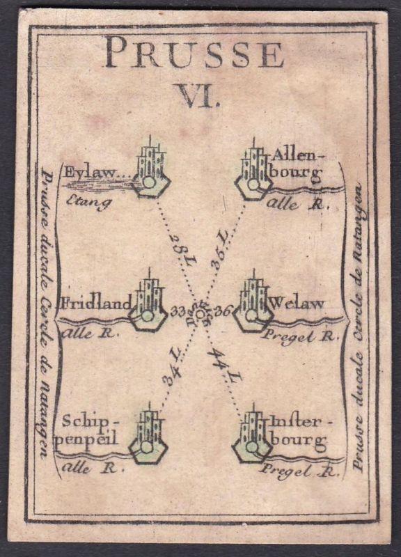 Prusse VI. - Prussia Preußen Sepopol Original 18th century playing card carte a jouer Spielkarte cards cartes