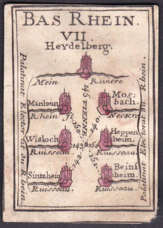 Bas Rhein VII. - Rheinland-Pfalz Rhein Heidelberg Mannheim Wiesloch Sinzheim Mosbach Heppenheim  Bensheim Orig