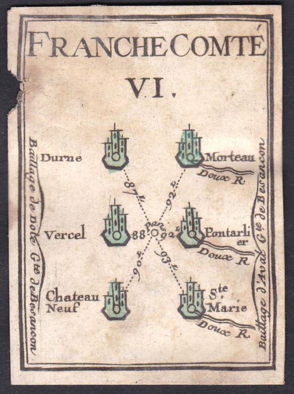 Franche Comte VI. - Franche-Comté Frankreich France Durnes Morteau Vercel-Villedieu-le-Camp Pontarlier Château