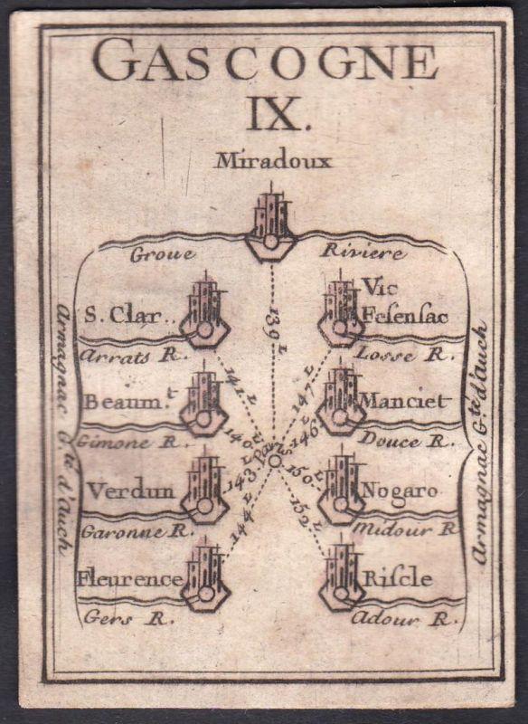 Gascogne IX. - Gascogne Frankreich France Miradoux Saint-Clair Vic-Fezensac La Baume Manciet Verdun Nogaro Fle