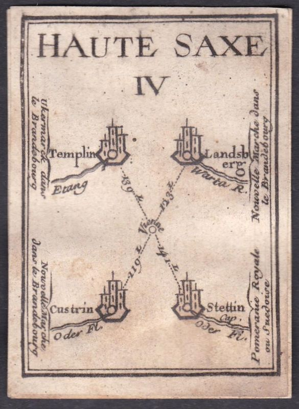Haute Saxe IV. - Obersachsen Sachsen Templin Landsberg  Kostrzyn nad Odra Stettin Original 18th century playin