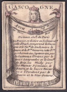 Gascogne - Gascogne Frankreich France Auch Original 18th century playing card carte a jouer Spielkarte cards c