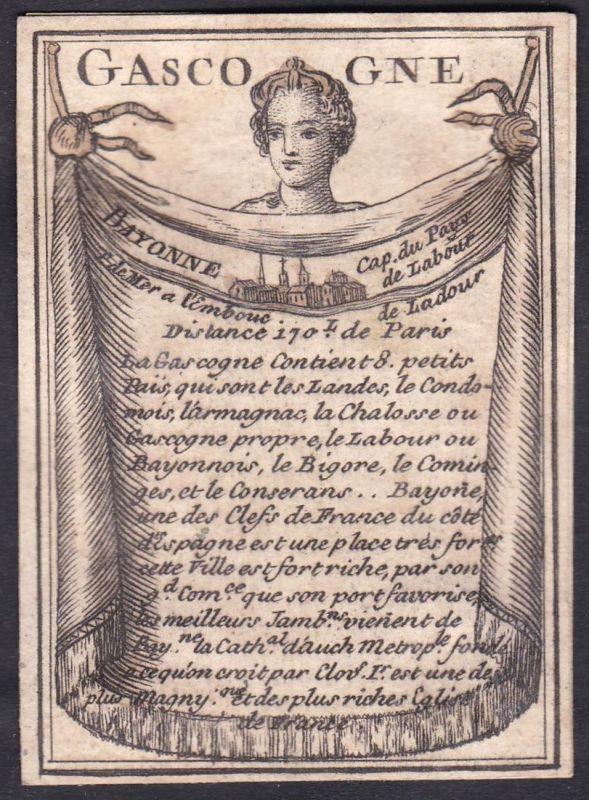 Gascogne - Gascogne Frankreich France Bayonne Original 18th century playing card carte a jouer Spielkarte card