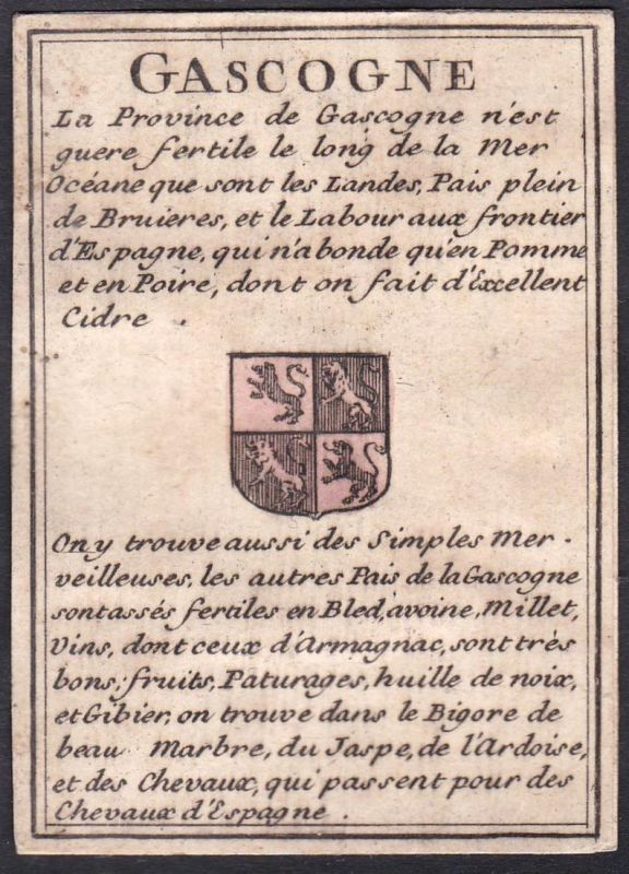 Gascogne - Gascogne Frankreich France Original 18th century playing card carte a jouer Spielkarte cards cartes