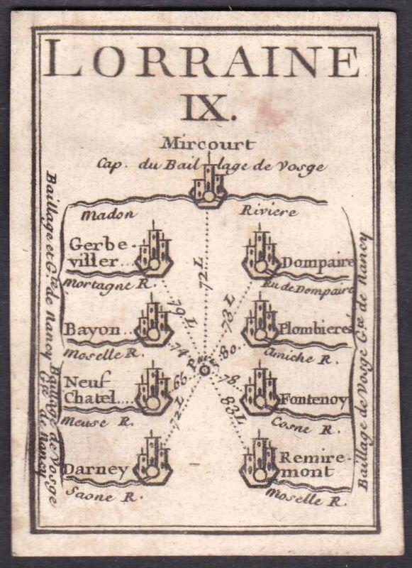 Lorraine IX. - Lothringen Frankreich France Gerbéviller Dompaire Bayeux Plombières-les-Bains Neufchâtel-en-Bra