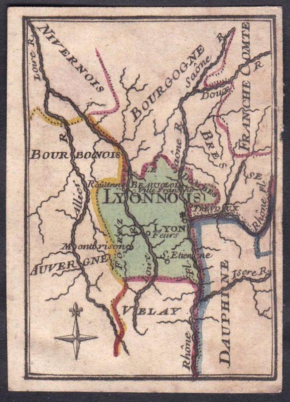 Lyonnois - Lyon Frankreich France Original 18th century playing card carte a jouer Spielkarte cards cartes