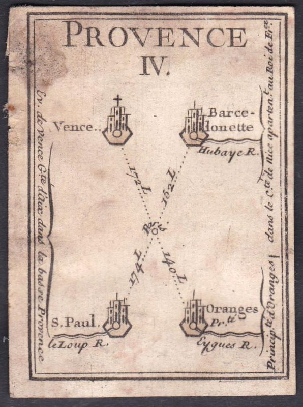 Provence IV. - Provence Frankreich France Vence Barcelonnette Saint-Paul-de-Vence Orange Original 18th century