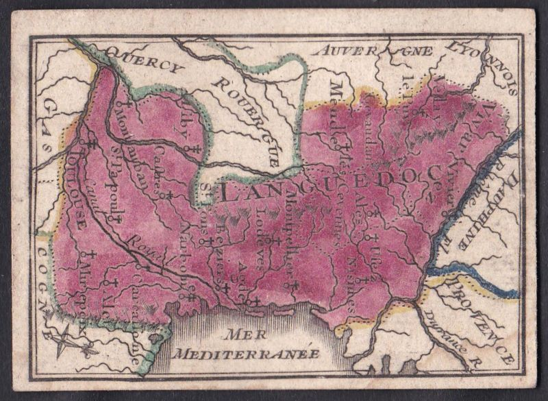 Languedoc - Languedoc Frankreich France Original 18th century playing card carte a jouer Spielkarte cards cart