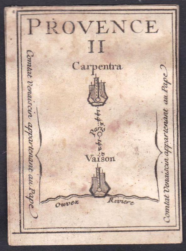 Provence II. - Provence Frankreich France Carpentras Vaison-la-Romaine Original 18th century playing card cart