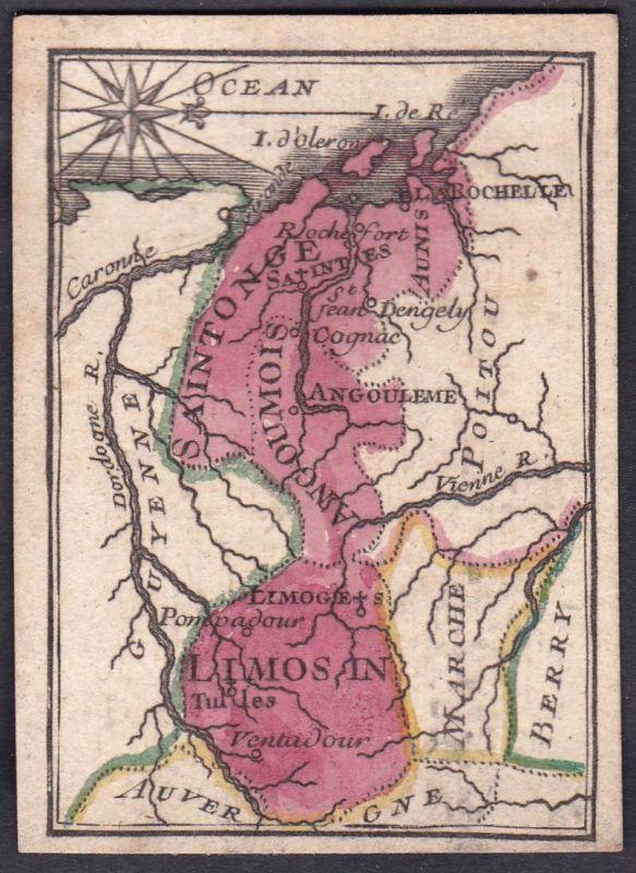 Limosin - Limousin Frankreich France Original 18th century playing card carte a jouer Spielkarte cards cartes