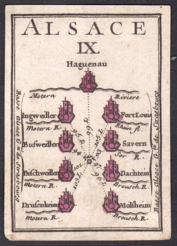 Alsace IX. - Elsass Frankreich France Hagenau Ingwiller Fort-Louis Bousseviller Saverne Bischwiller Dachstein