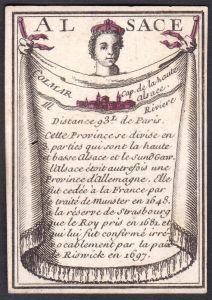 Alsace - Colmar - Elsass Colmar Frankreich France Original 18th century playing card carte a jouer Spielkarte