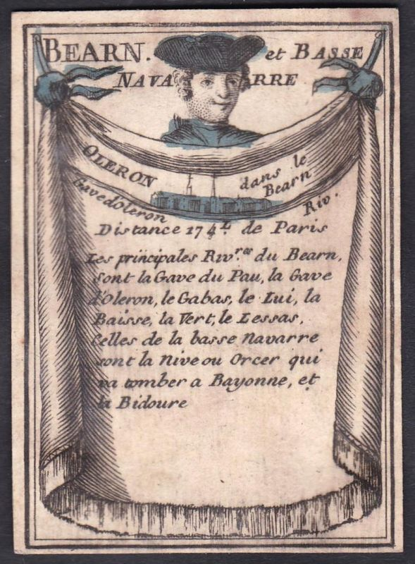 Bearn et Basse Navarre - Oleron - Béarn Nieder-Navarra Île d'Oléron Frankreich France Original 18th century pl
