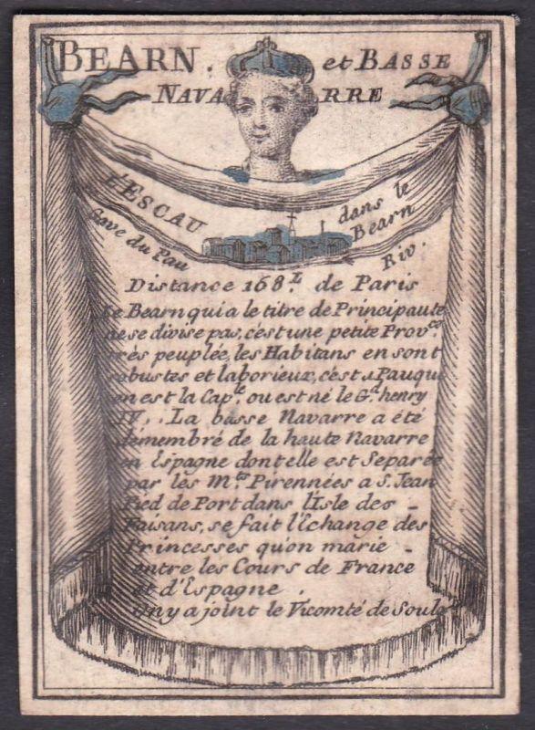Bearn et Basse Navarre - l'Escau - Béarn Nieder-Navarra Frankreich France Condé-sur-l'Escaut Original 18th cen