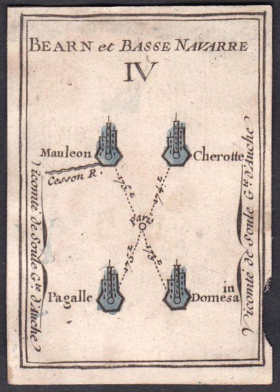 Bearn et Basse Navarre IV. - Béarn Nieder-Navarra Frankreich France Mauléon-Licharre Pigalle Original 18th cen