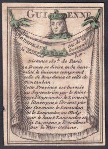Guienne - Bourdeaux - Bourdeaux Frankreich France Guyenne Original 18th century playing card carte a jouer Spi