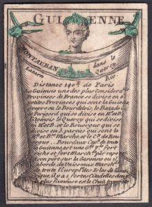 Guienne - Montauban - Montauban Frankreich France Guyenne Original 18th century playing card carte a jouer Spi