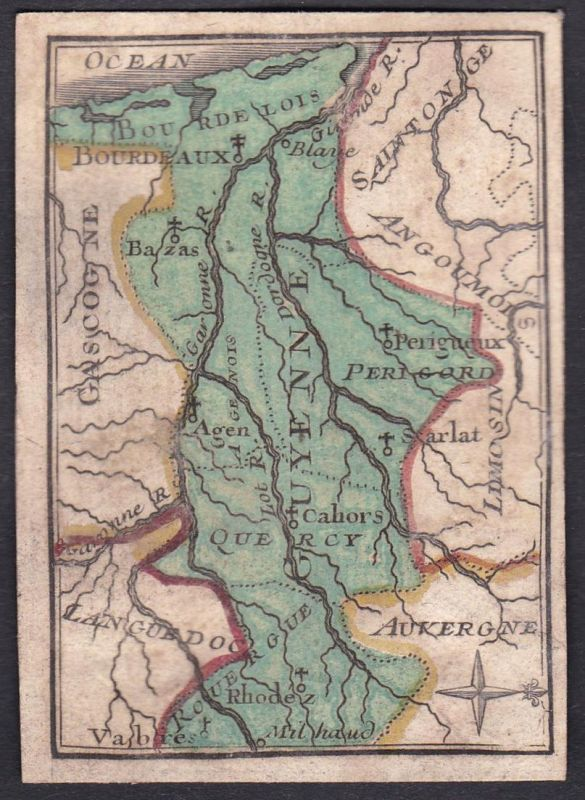 Guyenne - Guyenne Frankreich France Original 18th century playing card carte a jouer Spielkarte cards cartes 0