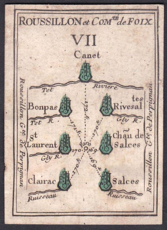 Roussillon et Comte de Foix VII. - Roussillon Foix Frankreich France Canet-en-Roussillon Bonpas Rivesaltes Sai