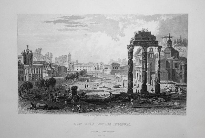 Das Römische Forum -  Römische Forum Forum Romanum Rom Roma Rome Ruinen ruins Italy Italien Italia Ansicht vie