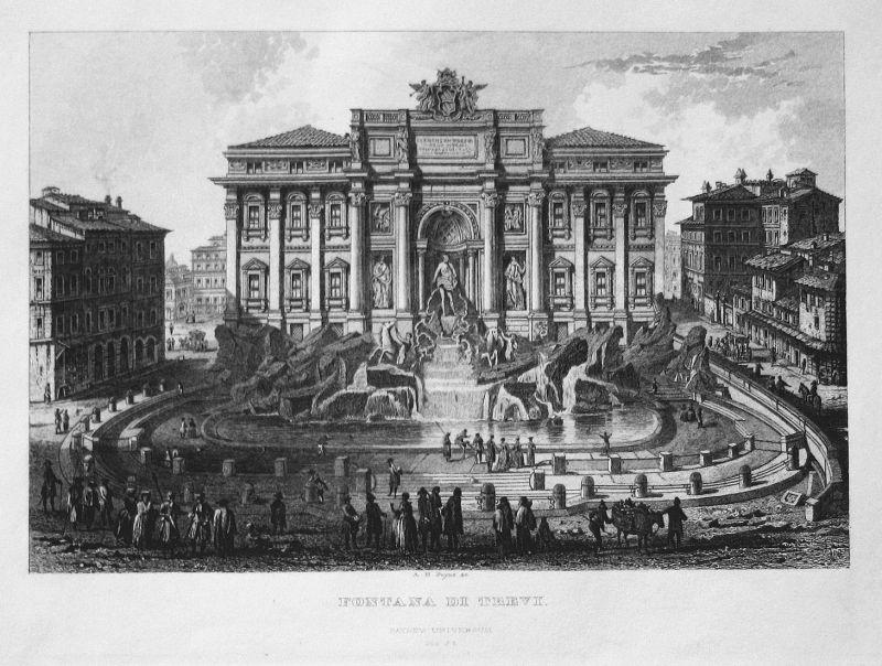 Fontana di Trevi - Fontana di Trevi Trevi-Brunnen Trevi Fountain Rom Roma Rome Italia Italy Italien Ansicht vi
