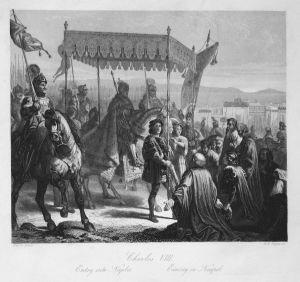 Charles VIII - Entry into Naples - Einzug in Neapel - Karl VIII. König king Neapel Napoli Italia Italien Stahl