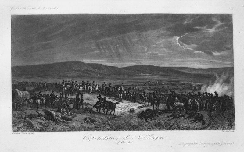 Capitulation de Nordlingen 14 8.bre 1805 - Nördlingen Schlacht battle 14 Oktober 1805 Bayern Bavaria Ansicht v