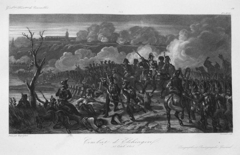 Combat d'Elchingen 15 Octob. 1805 - Elchingen Schlacht battle 15 Oktober 1805 Bayern Bavaria Ansicht view Stah