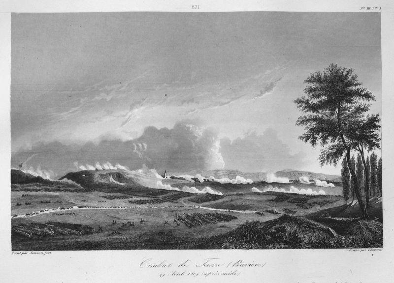 Combat de Tann (Baviere) 19 Avril 1809 (apres midi) - Tann Schlacht battle 19 April 1809 Bayern Bavaria Ansich