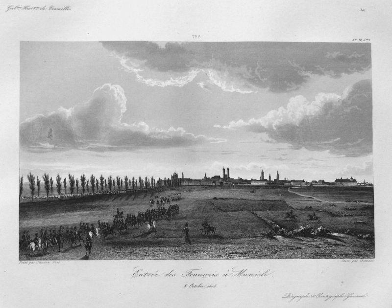Entree des Francais a Munich 8 Octobre 1805 - München Franzosen Einreise entry 8 Oktober 1805 Bayern Bavaria A
