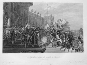 Napoléon donne des aigles à l'armée 5 Décembre 1804 - Napoleon Armee army Adler eagle 5 Dezember 1804 Ansicht