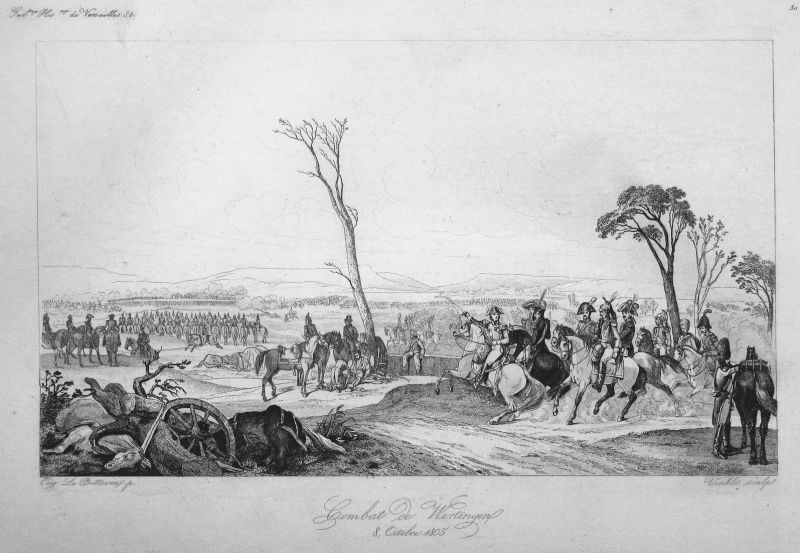 Combat de Wertingen 8 Octobre 1805 - Wertingen Napoleon Schlacht battle 8 Oktober 1805 Bayern Ansicht view Sta